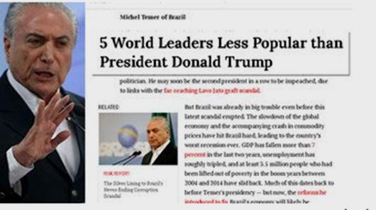 Time elege Temer um dos 5 líderes mais impopulares do mundo