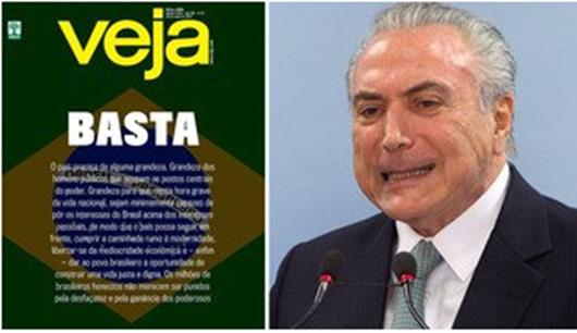 Veja segue Globo e também pede renúncia de Temer