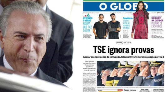 Globo condena TSE