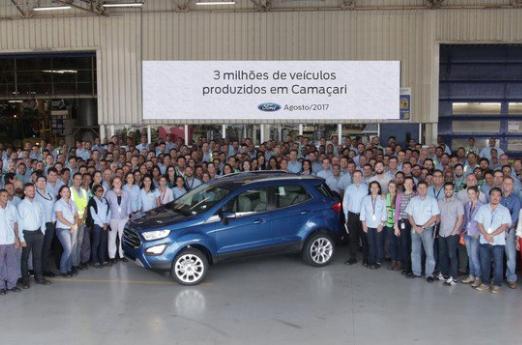 Ford celebra 3 milhões de carros produzidos na Bahia