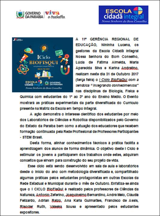 I Ciclo BioFisQui_Convite