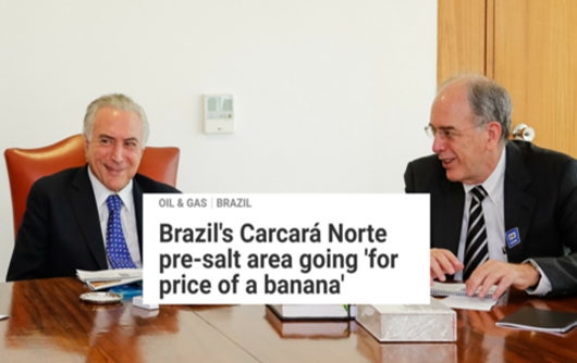 Petrobrás vende Pré-Sal a preço de banana, diz especialista