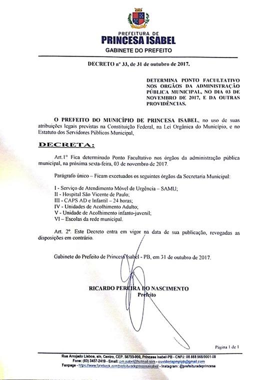 Decreto_Ponto Facultivo_3 denovembro