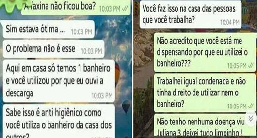 Patroa demite empregada doméstica por usar o banheiro_Brasil 247