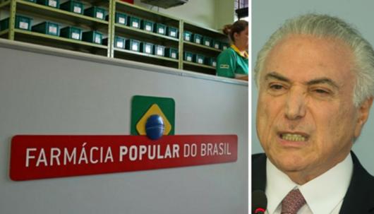 Temer quer acabar com programa de distribuição de remédio