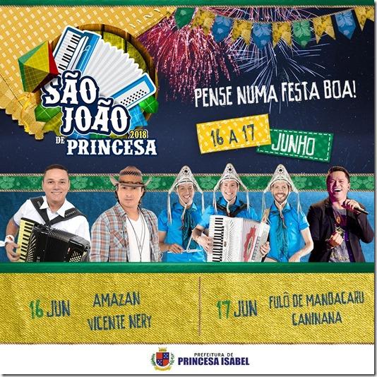 São João 2018 de Princesa Isabel