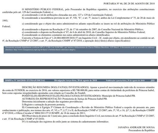 mpf_inquerito_civil_desvio_recursos_fundeb_princesa_isabel_pb_do_mpf_