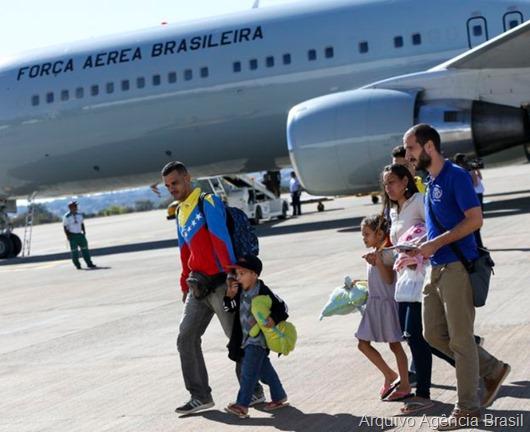 venezuelanos_embarque_FAB-Foto Arquivo da Agência Brasil