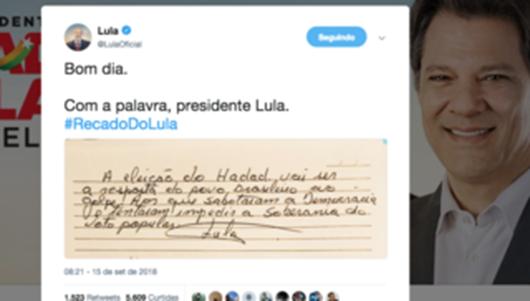 Lula_bilhete_eleição de Haddad