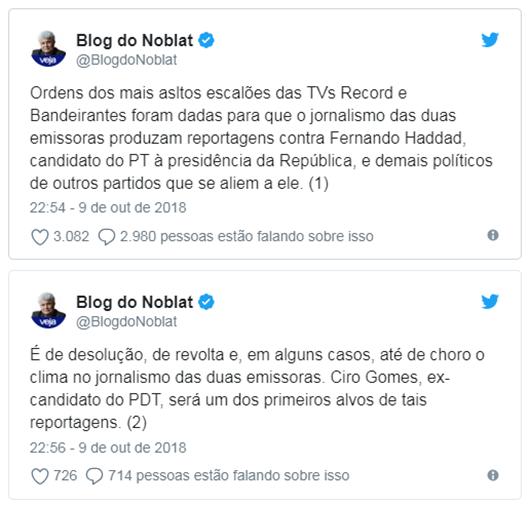 Blog do Noblat no Twitter