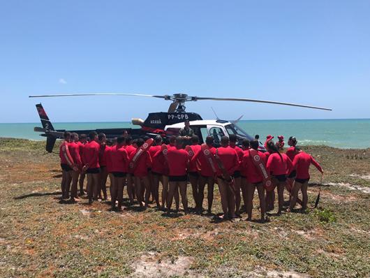 Cadetes do Corpo de Bombeiros-capacitação