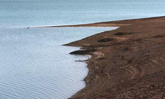 Barragem de Santa Maria apresenta nivel baixo de água (Fabio Rodrigues Pozzebom/Agência Brasil)