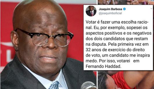 Joaquim Barbosa_apoio a Haddad