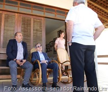 Lira_visita a familiares de Aloysio Pereira