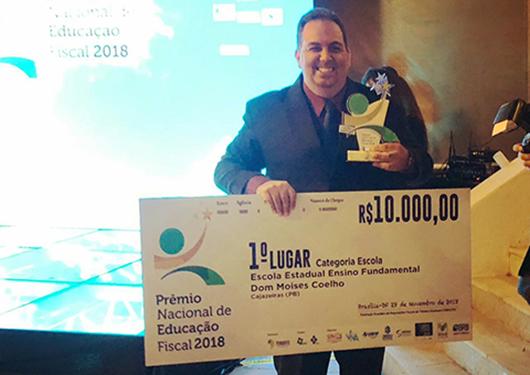 José Ribamar_bicampeão_Prêmio Nacional de Educação Fiscal