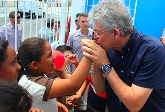 Ricardo Coutinho_entrega de escola reformada em João Pessoa