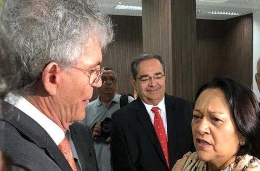 Ricardo Coutinho_governadora eleita Fátima Bezerra