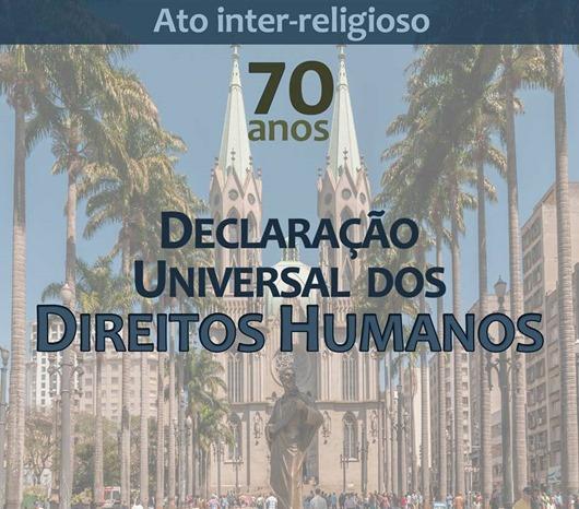 Ato inter-religioso_70 anos da declaração universal dos direitos humanos