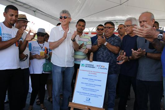 Ricardo Coutinho_entrega_obras em  Pitimbu
