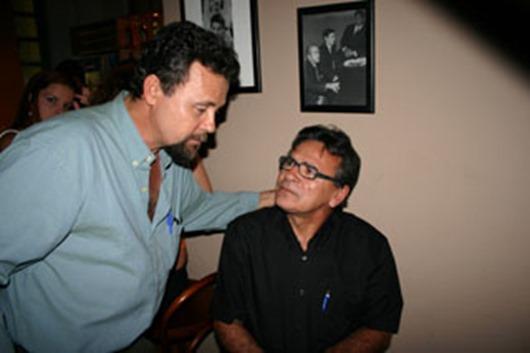 jornalistas e escritores Aldo Lopes e Tião Lucena
