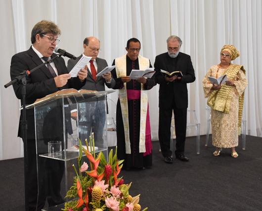 Celebração ecumênica inicia solenidades de posse do governador João Azevêdo e da vice-governadora Lígia Feliciano