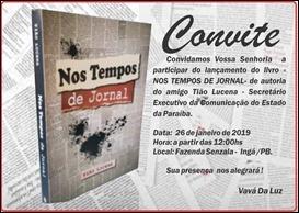 Convite-lançamento do livro de Tião Lucena
