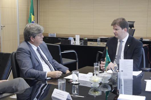 Governador João Azevêdo_ministro Gustavo Canuto