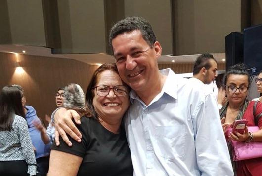 Nininha Lucena e o secretário Aléssio Trindade