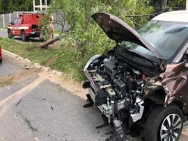 Estela-acidente com carro