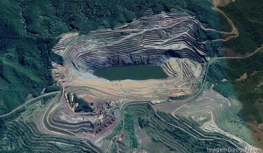 Gongo Soco, Mina, Vale - Imagem Google Maps