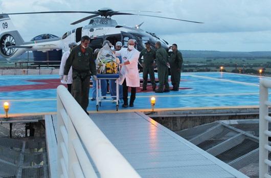 Hospital Metropolitano recebe primeiro pouso aeromédico e atende bebê cardiopata transferida do Ceará