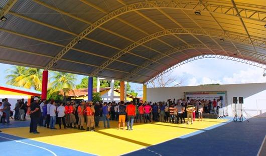 João Azevêdo_ginásio de Escola Cidadã Integral de Santa Helena