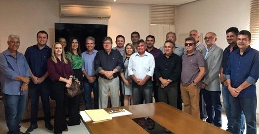 João Azevêdo, Nabor e prefeitos