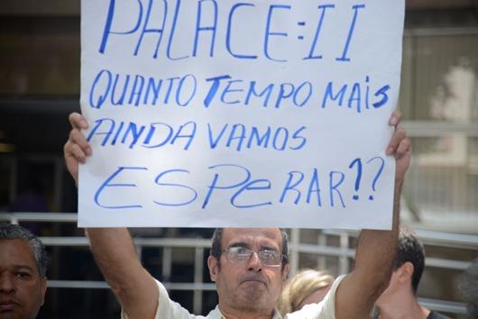 protesto-vítimas do Palace II-Foto da Agência Brasil