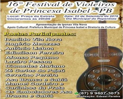 16º Festival de Violeiros de Princesa Isabel