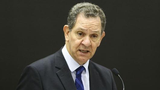 O presidente do Superior Tribunal de Justiça, João Otávio de Noronha, durante o lançamento da 16ª edição do prêmio Innovare.