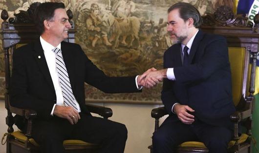 O  presidente do STF, ministro Dias Toffoli, recebe o presidente da Republica, eleito, Jair Bolsonaro.