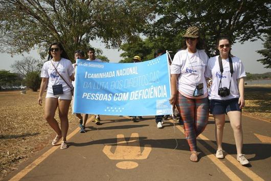 1ª Caminhada Nacional da Luta dos Direitos das Pessoas com Deficiência -Agência Brasil