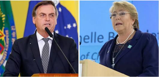 bolsonaro_Michelle Bachelet