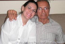 Fernanda Frazão e seu avó Zé Pitada