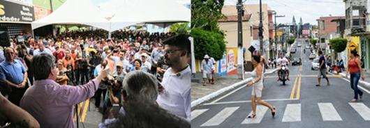 Azevêdo_entrega de travessia urbana em Cacimba de Dentro