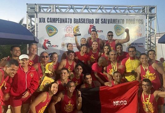 Delegação do Corpo de Bombeiros conquista primeiro lugar em Campeonato de Salvamento Aquático