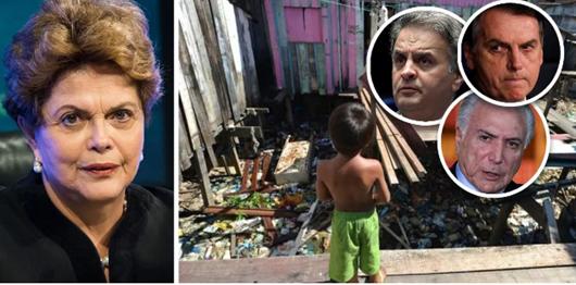 Extrema pobreza dispara no Brasil após golpe de estado contra Dilma