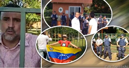 invasão da Embaixada da Venezuela em Brasília-Foto Reprodução