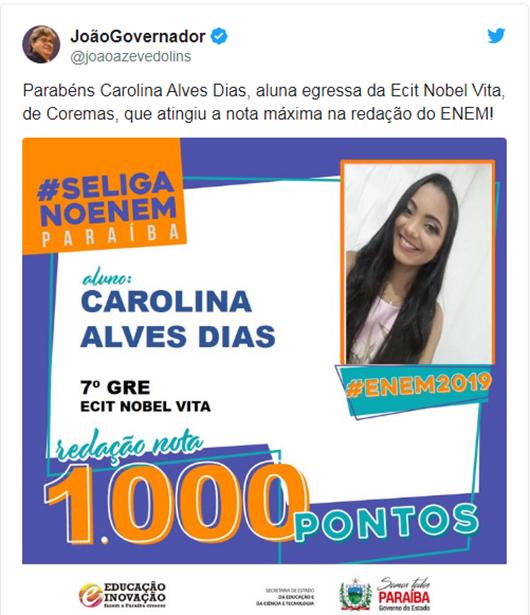 João Azevêdo_Twitter