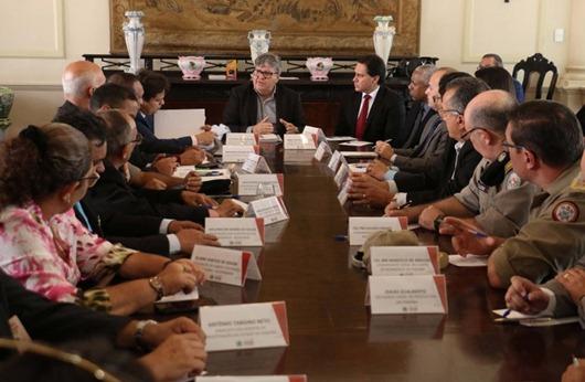 João Azevêdo_reunião_Segurança
