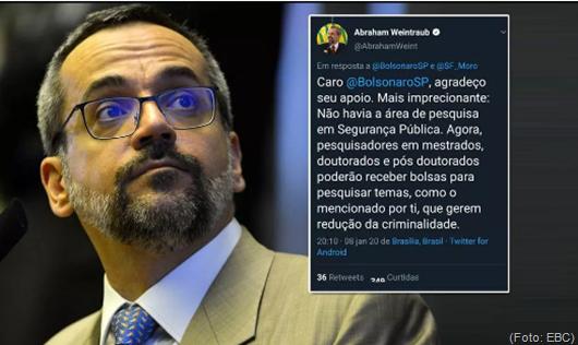 Weintraub escreve imprecionante e vira piada nas redes por erro grotesco de português