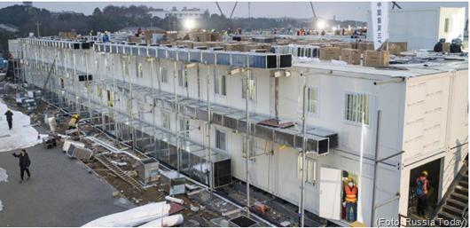 China inaugura hospital construído em tempo recorde