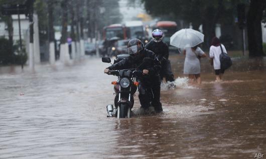 Chuvas em São Paulo-ABr
