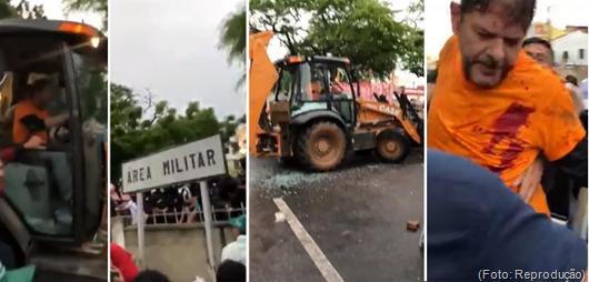 Senador Cid Gomes é baleado com tiro de borracha em Sobral